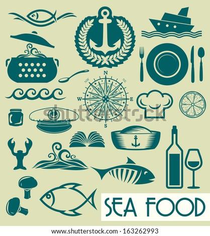 Sea food concept - stock photo