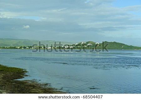 Sea Houses at Plettenberg Bay South Africa - stock photo