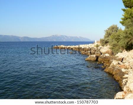Sea in Croatia - stock photo
