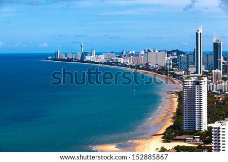 Sea in the city. - stock photo