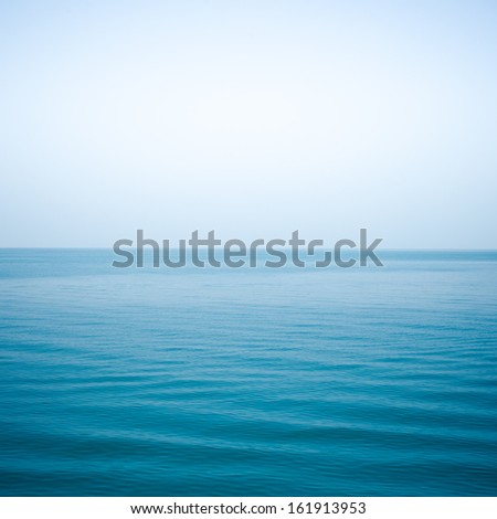 sea Indigo color and soft wave - stock photo