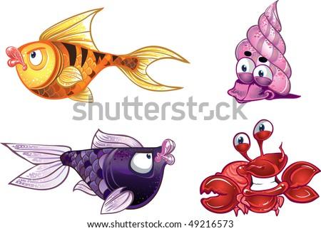 sea inhabitant. raster version - stock photo
