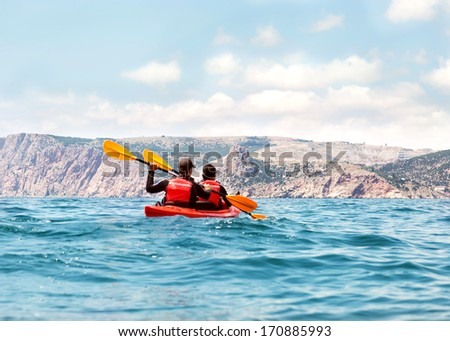 sea kayak - stock photo