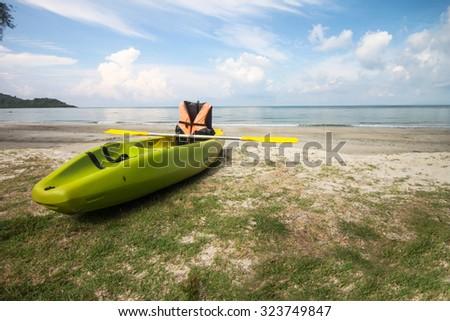sea kayak at a beautiful beach in Thailand - stock photo