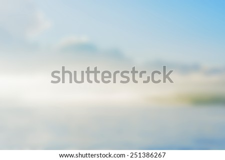 Sea, Land and sky background blur. - stock photo