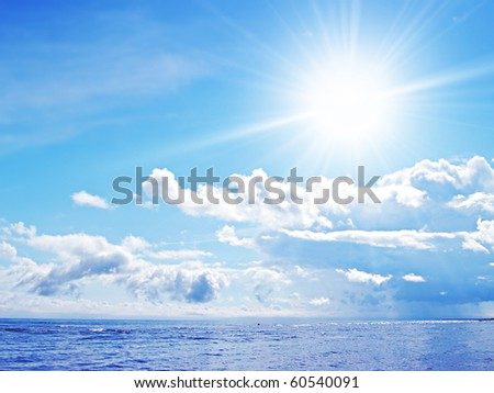 Sea landscape - stock photo