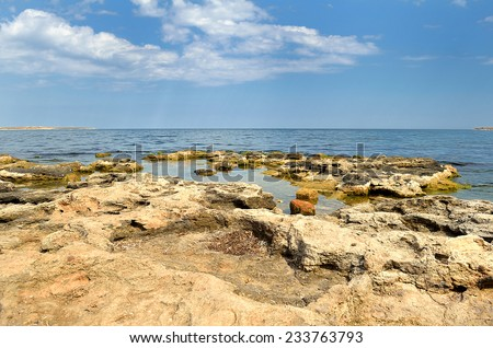 sea landscape summer - stock photo