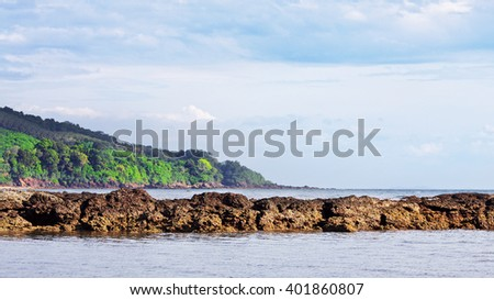 Sea Low Tide  - stock photo