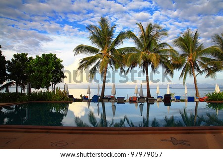 Sea Pool In Paradise - stock photo