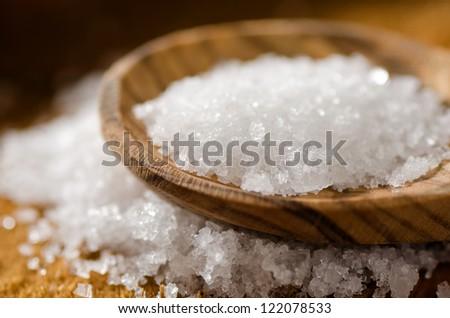 Sea Salt - Fleur De Sel - stock photo