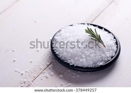 sea salt food - stock photo