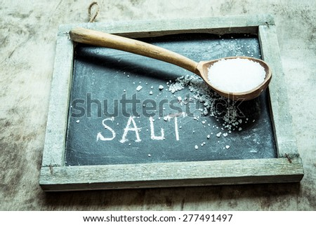 Sea salt/retro filter - stock photo