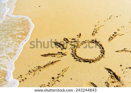 sea, sand and sun  - stock photo