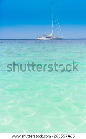 Sea Scene Sailing Oceans  - stock photo