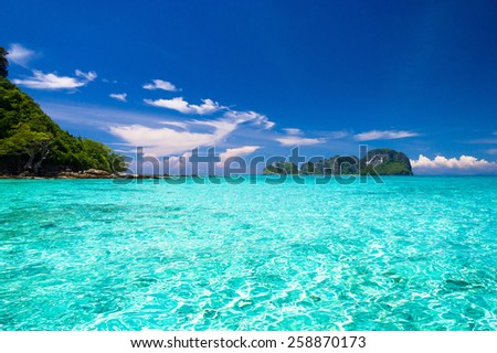 Sea Scene Sunny Waters  - stock photo