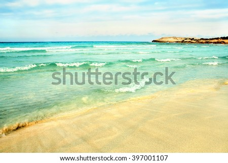Sea shore background - stock photo
