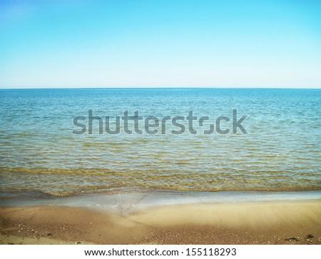 sea shore, baltic sea wallpaper - stock photo