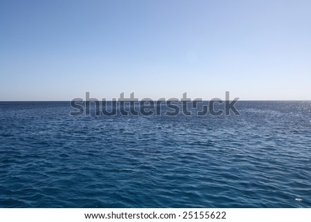 sea, sky - stock photo