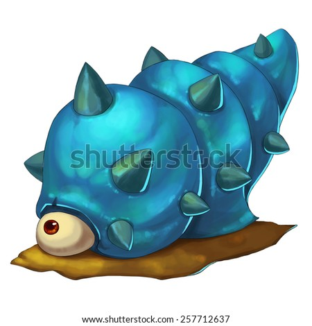 Sea Snail Monster - Creature Design - stock photo