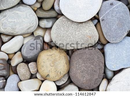 Sea stones background eco - stock photo