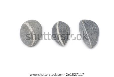sea striped three stone isolated - stock photo