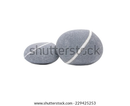 sea striped two stone isolated - stock photo