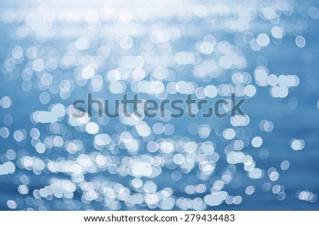 Sea surface blink bokeh. Element of design. - stock photo
