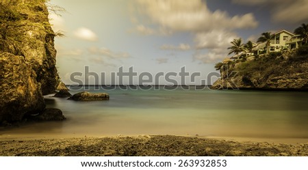 sea view of Curacao - stock photo