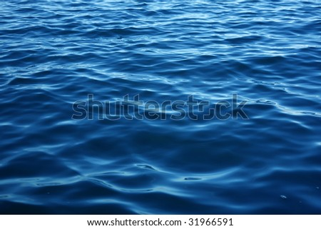 sea water surface - stock photo