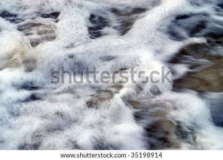 sea water with movement - stock photo