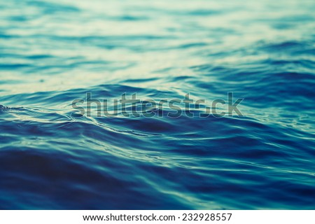sea wave close up, low angle view - stock photo