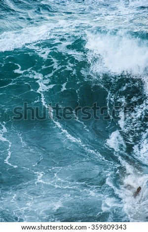 Sea waves during a storm - stock photo