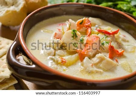 Seafood Chowder - stock photo