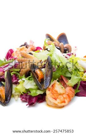 Seafood salad - stock photo