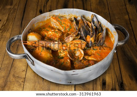 Seafood traditional stew - stock photo