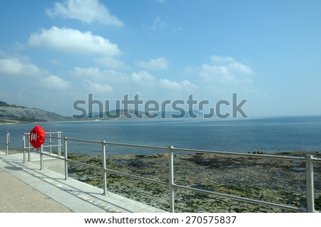 Seafront at Lyme Regis, Dorset - stock photo