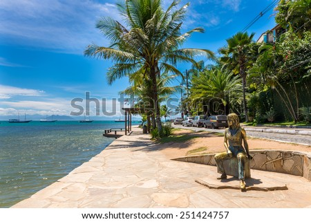 Seafront of Brigitte Bardot in Buzios, Rio de Janeiro. Brazil - stock photo