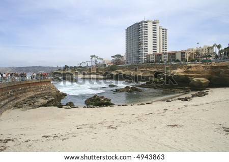 Seal Beach La Jolla, San Diego California - stock photo