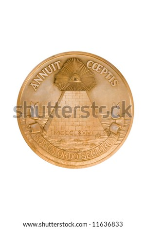 Seal of the United States of America - stock photo