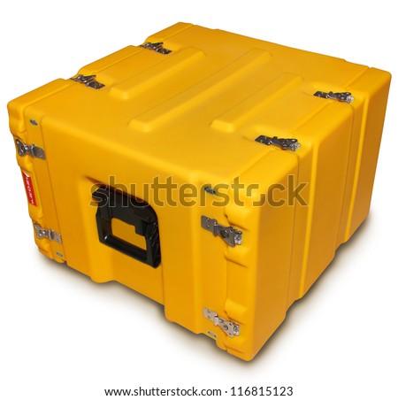 Sealed universal plastic box - stock photo