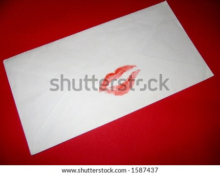 Sealed with a kiss - stock photo