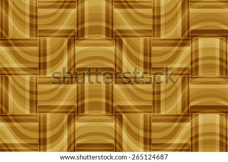 seamless abstract beige pattern golden texture with brown rectangle with cream line on  sand wicker background raster - stock photo