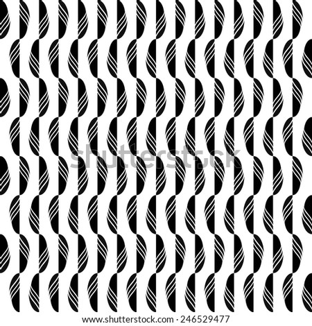seamless abstract black white pattern black white texture with black line with black leaf on white background raster - stock photo