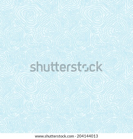 Seamless abstract blue pattern with concentric curved circles - stock photo