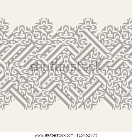 Seamless abstract border. Twisted lines - stock photo