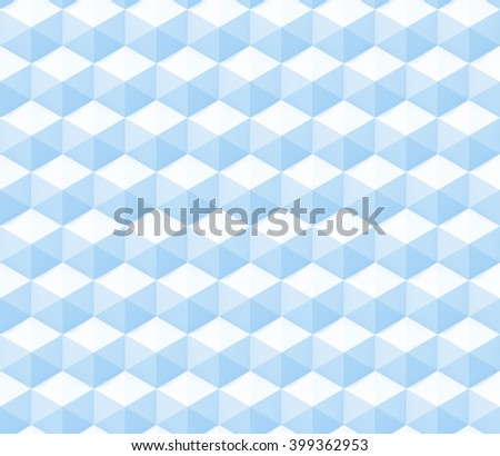 seamless abstract 3d background made of hexagon structures in white and blue (3d illustration) - stock photo