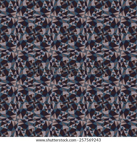 seamless abstract dark bronze pattern sand texture with triangle abstract blue line on brown background raster - stock photo