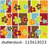 Seamless abstract floral background - stock photo
