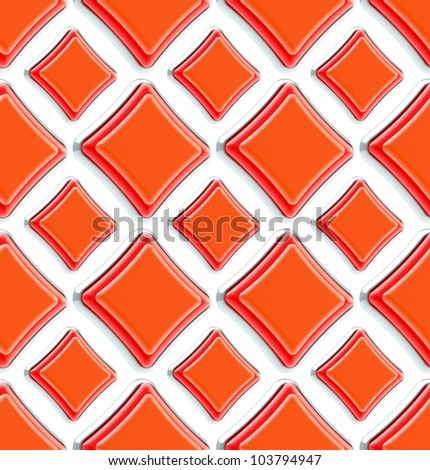 Seamless abstract geometric background made of glossy bright square figures - stock photo