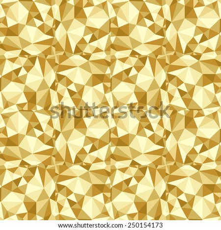 seamless abstract golden pattern sand texture abstract brown line on beige background with tetrahedron raster - stock photo